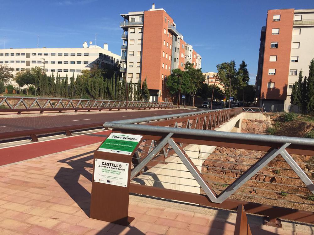 Puente Europa sobre río Seco de Castelló cofinanciado por FEDER